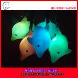 七彩发光海豚 海洋动物 海洋玩具批发 搪胶玩具