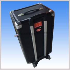厂家专业设计与生产便携式音响系统铝箱,拉杆移动音箱航空箱