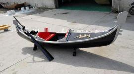 湖南有木船厂家出售优质贡多拉装饰船欧式手划船 汽车喷漆