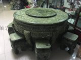 天然手工雕刻玉石桌子