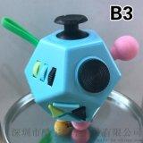 十二面體解壓魔方二代美國fidget cube減壓骰子玩具成人解壓神器