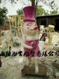 玻璃钢卡通动漫玩偶雕塑商场迎宾