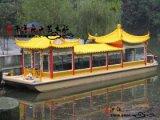 嘉兴 杭州 乌镇 福建 中山豪华游船木船定做 双层豪华画舫木船 水上娱乐木船定制