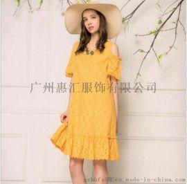 杭州时尚少淑女装品牌慕希2018夏装尾货折扣批发