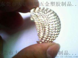 廠家直銷麥克風話筒編織網頭、鍍銀麥克風小網罩