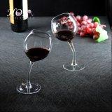 厂家批发创意个性弯挺斜口 歪嘴人工吹制玻璃红酒杯葡萄酒高脚杯