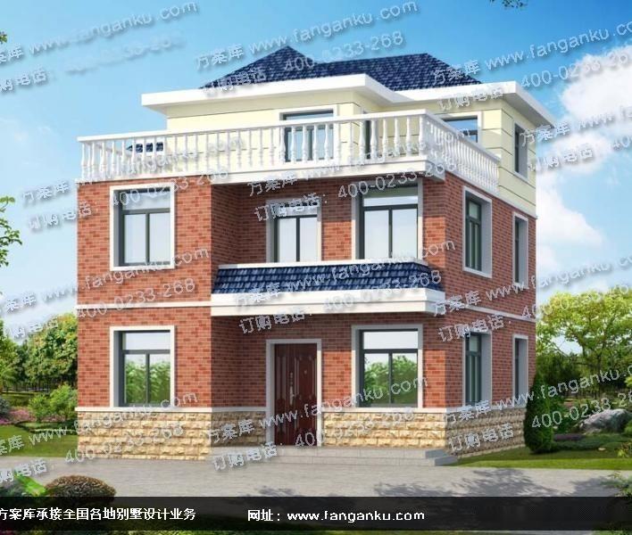 农村房屋设计图纸 农村三层自建房设计图图片
