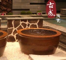 温泉会所高档陶瓷洗浴大缸 日式陶瓷泡澡缸 坐式陶瓷浴缸厂家