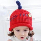 棒棒帽业秋冬新款婴幼儿毛线帽批发_宝宝防风针织帽订做