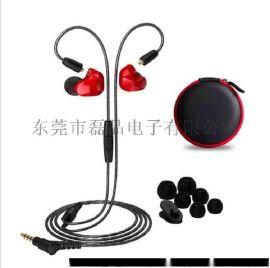 双动圈可换线耳机入耳式运动挂耳hifi发烧监听工厂