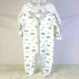 新生婴儿纯棉外贸长爬两件套宝宝外贸衣服