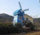 户外房地产景观风车 实木风车特价  专业生产风车厂家