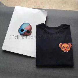 夏季欧美街头潮短袖T恤棉男士体桖上衣服小熊印花潮流男装打底衫