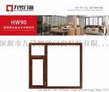 HW90鋁木復合斷橋系列平開窗