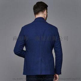 2017秋季新款羊毛商务西服修身格子西服外套男5582 羊毛混纺 修身剪裁 时尚格纹