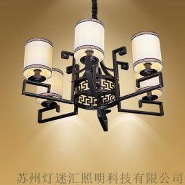 酒店中式大廳吊燈_新中式酒店大廳吊燈【燈迷匯照明】