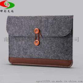 廠家直銷毛氈電腦包 iPad毛氈保護套 定制時尚禮品包+LOGO