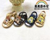 厂家直销外贸儿童鞋 迷彩小黄人凉鞋 卡通凉鞋