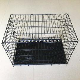 批发销售 加粗铁丝宠物笼子 金毛泰迪大中小型狗笼 可定制