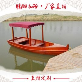 楚风木船出售纯手工精品木船 观光船 电动船 画舫船