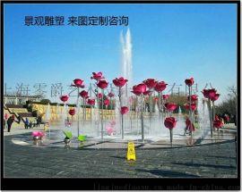 江苏玫瑰花戒指景观不锈钢材质雕塑