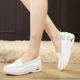 雅蓝梦迪1501-1真皮气垫护士鞋