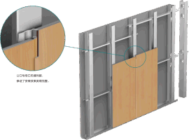 新型鋼制隔牆板-PVC材質