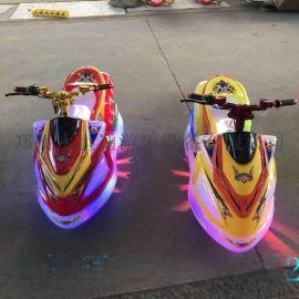 河南鄭州新款兒童幻影摩託車掀起廣場公園遊樂新風潮