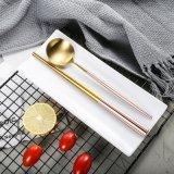 Annie粉色刀叉勺 创意小清新尖尾304不锈钢餐具 摆台礼品餐具套装