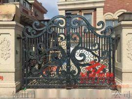 庭院门定制铁艺大门楼梯扶手铝艺大门围栏护栏