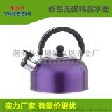 彩色不锈钢美式平底半球鸣音水壶 电磁炉烧水壶 礼品赠品