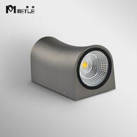 麥特2076 LED雙頭壁燈鋁材酒店牀頭燈現代簡約戶外防水壁燈客廳走廊過道燈