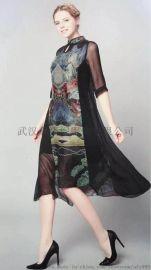 杭州真絲女裝品牌草葉集 18年夏裝連衣裙尾貨走份