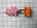 滴塑PVC软胶长尾夹 卡通动漫PVC长尾夹