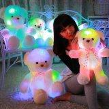 七彩发光款泰迪熊音乐抱枕玩具
