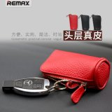 Remax 汽车真皮钥匙包拉链式复古风格男女通用车用配件热销