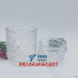 加工定制玻璃燭臺 蠟燭器皿 蠟燭杯 蠟燭罐