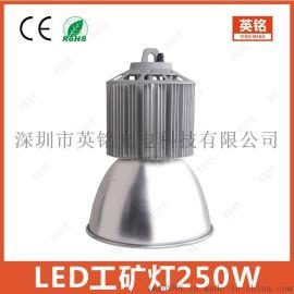 250W天棚灯 IP54带罩防尘工矿灯价格 LED节能铜管高湾灯工厂供应60W80W100W120W150W200W300W