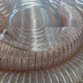 通風排煙氣木工機械抽吸灰塵管PU鋼絲螺旋清掃車專用管