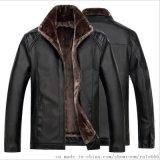 冬季pu皮毛一体保暖高端休闲中年人男式皮衣
