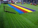 彩虹幼儿园仿真草人工草皮,休闲装饰假草坪