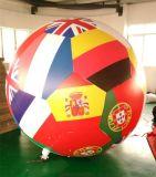廠家直銷新款充氣空飄球國旗飄空氣球加厚PVC氫氣球