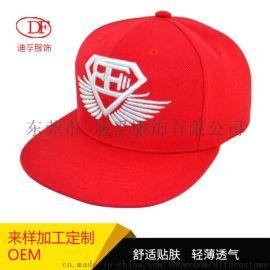 廠家直銷 腈綸六頁平板嘻哈帽 時尚潮牌街舞帽子