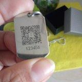 不锈钢胸牌激光打标机 金属牌工号牌打码机 宠物防走失项圈刻字机