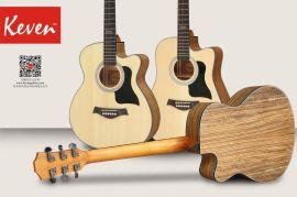 凱文吉他40寸雲杉蘇木民謠吉他中檔男女學生吉他初學者入門