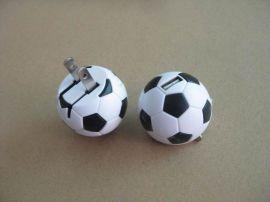 足球形狀usb充電器 創意足球外觀手機充電器