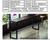 實木家用長桌吧臺桌星巴克桌椅美式客廳酒吧桌