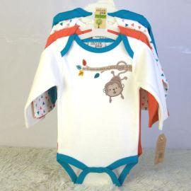 newborn baby bodysuits long sleeve 宝宝长袖三角哈衣套装