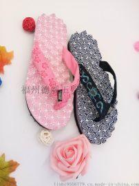 防滑情侶人字拖織帶夏季歐美男女夾腳拖鞋休閒涼拖平底厚底沙灘鞋