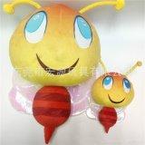 定制卡通创意大眼睛毛绒玩具小蜜蜂公仔企业吉祥物